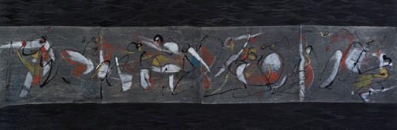 Figuren in Bewegung // 160 x 60 cm